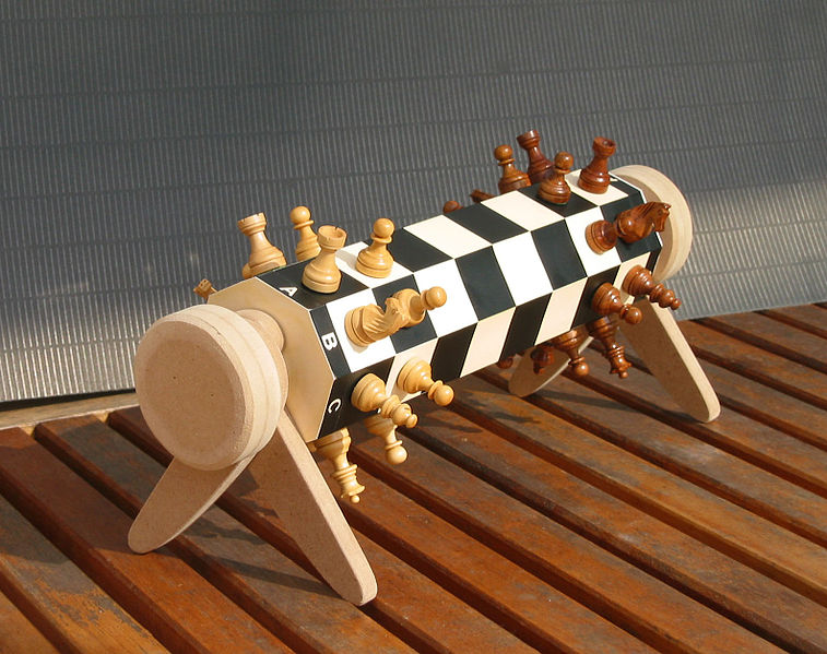 Cylindrical chess board`