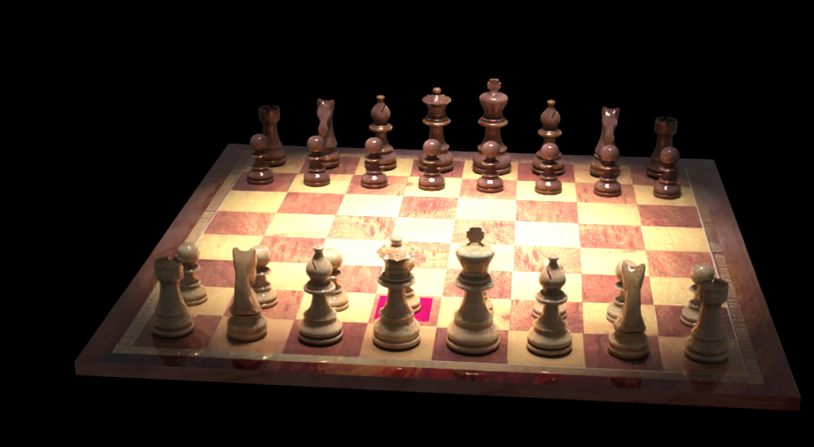 Fritz 17 and 3D raytracing chess pieces and boards-1