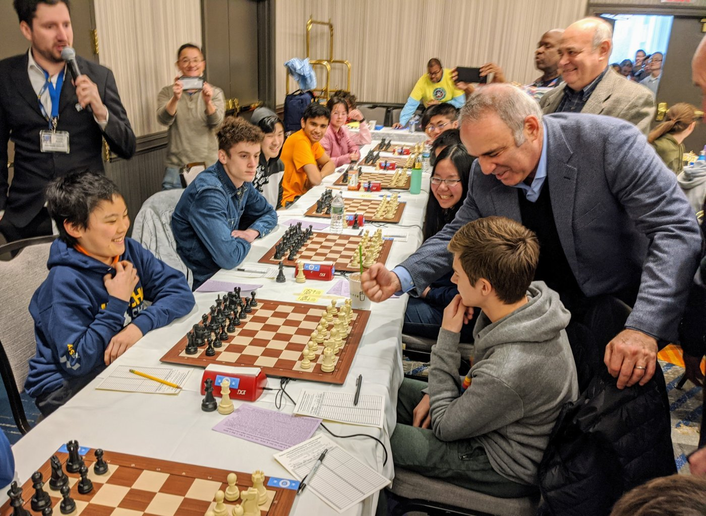 Kasparov first move