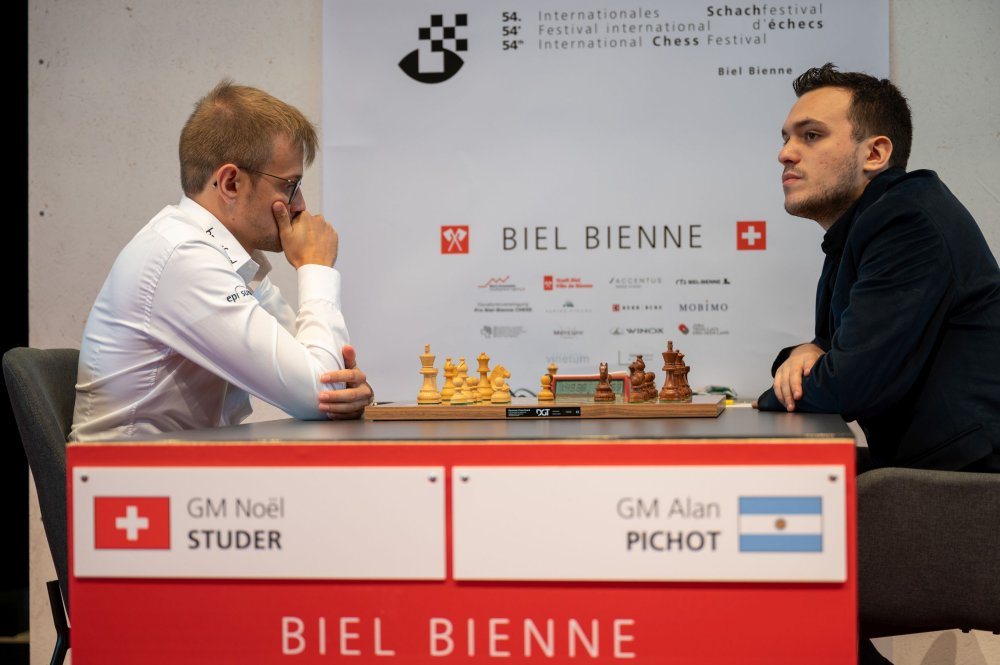 , Biel, Round 2: Four draws, long games, lots of fight,