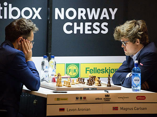 Aronian and Carlsen from Norway Chess 2017