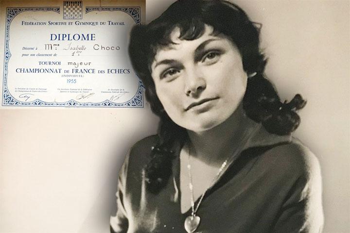 Isabelle Sztrauch Choko, French Champion 1956